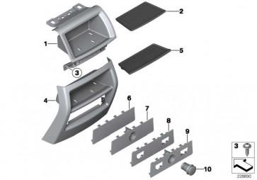 Einlegematte Ablagefach hinten  X3 X4  (51169218191)