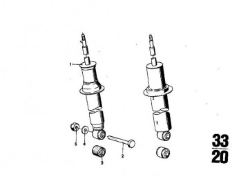 Stossdämpfer hinten BOGE              (33521108173)