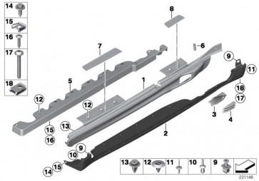 Blende Einstieg vorn rechts MINI COOPER S   MINI  (51779800668)