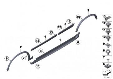 Blende Radlauf vorne rechts M-PAKET X3 X4  (51778052074)