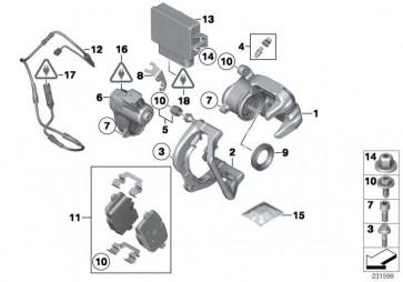 Bremssattelgehäuse links  X3 X4  (34216791017)