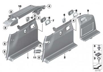 Verkleidung Gepäckraum rechts SCHWARZ 5er  (51477234738)
