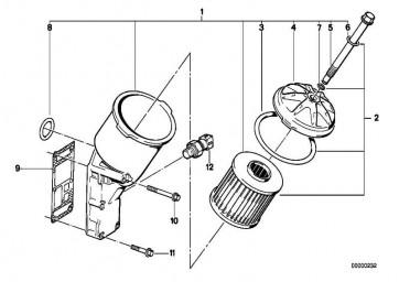 Satz Ölfiltereinsatz  3er 5er Z3  (11421716192)