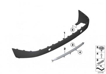 Blende Verkleidung hinten schwarz  X3  (51127210073)