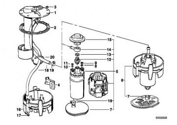 Halter Kraftstoffpumpe  7er 5er  (16141179119)