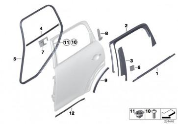 Blende B-Säule Tür hinten links (51359800619)