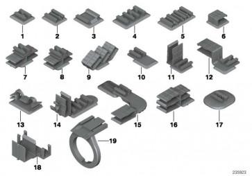 Halter Steckverbindung schwarz  7er 5er 3er Z8 X5 X3 Z3 1er Z4 X1  (61138365570)