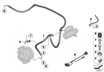 Kabel Generator-Anlasser-Stützpunkt B+  1er 3er  (12427584691)