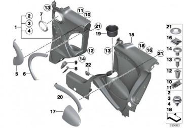 Rahmen Leuchte CARBON BLACK    MINI  (51422756089)