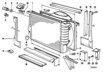 Kühlmittelkühler A=610 MM        5er 7er  (17111709458)
