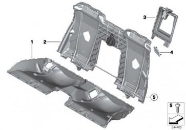 Trägerteil Sitz hinten  6er  (52207266501)