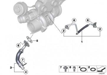 Ölleitung Vorlauf  1er 2er 3er 4er 5er X1 X3 X4 Z4  (11427588933)
