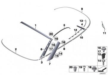 Schaumdichtung A-Säule links (51137351731)