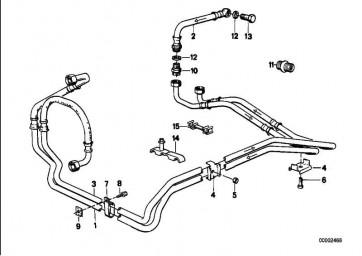 Ölkühlerleitung Vorlauf 4HP22           6er 5er 3er  (17221707538)