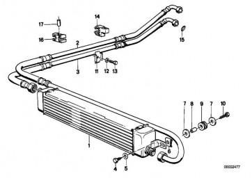 Ölkühlerleitung Rücklauf  3er  (17211707864)