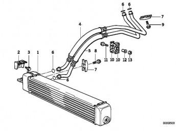 Ölkühler A=484MM         3er Z3  (17212244084)