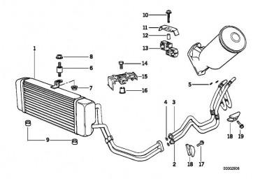Ölkühlerleitung Rücklauf  5er  (17222244712)