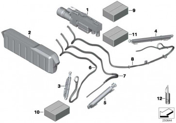 Hydraulikzylinder Finne links  6er  (54347299827)
