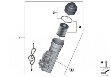 Ölfilterdeckel  1er 3er  (11427625483)