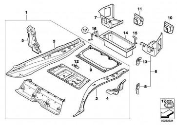 Rahmen Gepäckraumboden  1er  (41007079448)