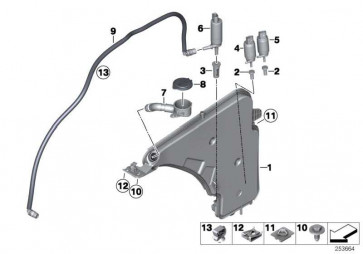 Behälter Scheibenwaschanlage  1er 3er  (61667241676)