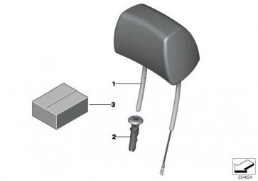 Kopfstütze Leder MOKKA X3 X4  (52107368474)