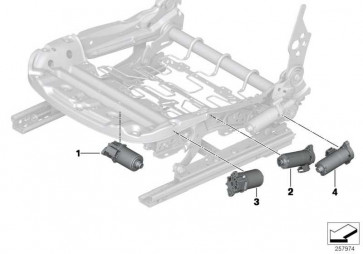 Antrieb Sitzhöhenverstellung rechts  1er 3er 4er 2er  (52107328697)