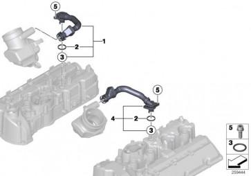Entlüftungsschlauch ZYL. 1-4        5er 6er  (11157843150)