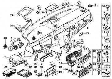 Verkleidung Instrumententafel GRAU            5er  (51456976406)