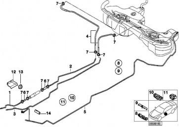 Kraftstoffvorlaufleitung hinten  3er  (16121183759)