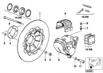 Reparatursatz Bremsbeläge   (34112331177)