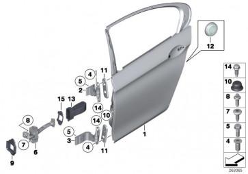 Abdeckung Türbremse hinten (51227185637)