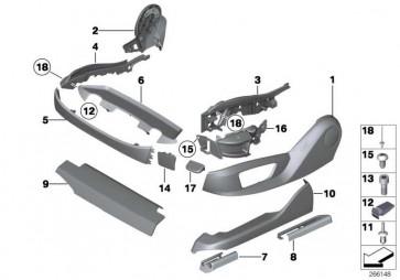 Träger Blende Sitz aussen links  5er 7er X5 X6  (52107317459)
