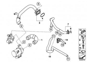 Leitung Motorvorlauf-Kühlmittelpumpe  1er 3er Z4  (11537558522)