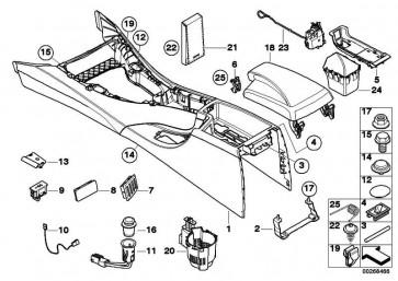Leitung AUX und USB 385MM           3er  (61129187009)