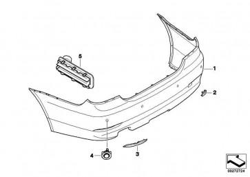 Verkleidung Stossfänger lackiert hinten CODE - UNI/MET. 5er  (51120422349)