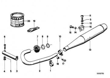 Klemmschelle links  R R50/5-R90S  (18212302071)