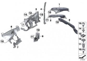 Abdeckung Lenkgetriebe vorne links EPS (51757287549)