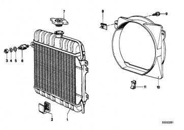 Kühlerverschluss D=60 MM 1,0 BAR  3er 5er 6er 7er M1  (17111100848)