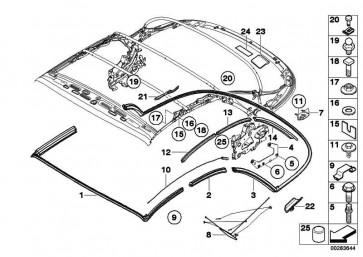 Kugelbolzen Hydraulikzylinder  1er 6er  (54347190719)