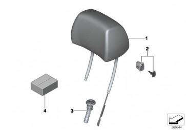 Kopfstütze Komfortsitz Leder links LKSW,X3SW SCHW  6er  (52108053053)