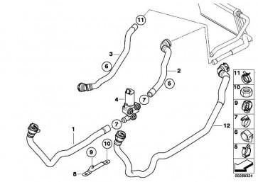 Schlauch Heizkörper-Motorrücklauf  1er 3er X1  (64219129594)