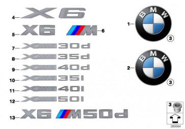 Schriftzug X6M50D          X6  (51148055281)