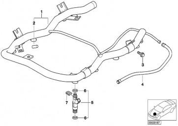 Kraftstoffschlauch Vorlauf (13317514254)