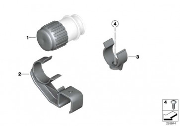 Verschlusskappe Diagnosestecker ABS             K14 R13  (61137665616)