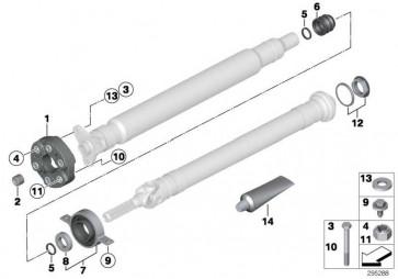 Mittellager Aluminium  X5 X6 X3 X4  (26127558745)