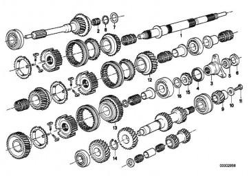 Stützscheibe 28X37X3,7       5er 7er 6er  3er BMW  (23221203690)