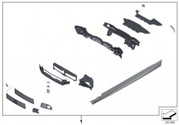 Nachrüstsatz M Aerodynamik Basispaket  5er  (51952296749)