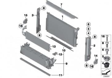 Kühlmittelkühler  2er MS  (17118672103)