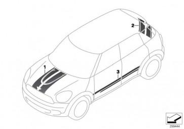 Satz Zierstreifen seitlich rechts WHITE           MINI  (51149810752)